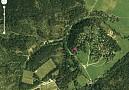 satelitná snímka rekreačnej oblasti Košiarny briežok - Národný park Slovesnký raj